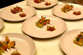 Shrimp and Stone Fruit with Marigold.jpe