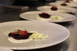 Earth Roasted Beets, Herbs, Local Cow's Milk