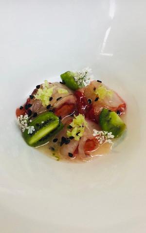 Shrimp, Kiwi, and Wasabi
