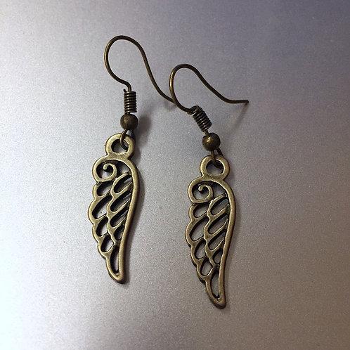 Wing Brass Earrings