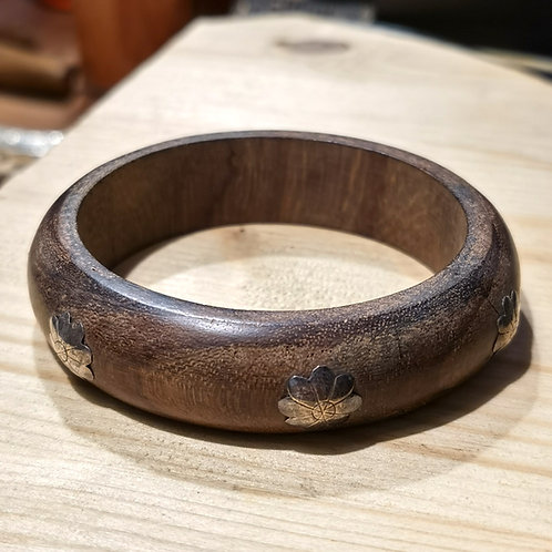 Wood Silver Armlet