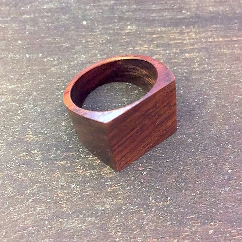 Square Wooden Ring