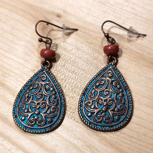 Brass Madrepore Earrings