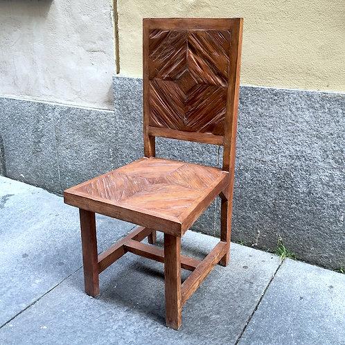 Rhomboid Teak Chair