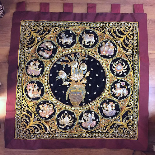 Flower Zodiac Tapestry