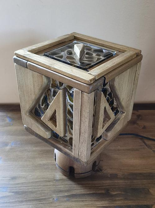 Resin Glass Cube Lamp