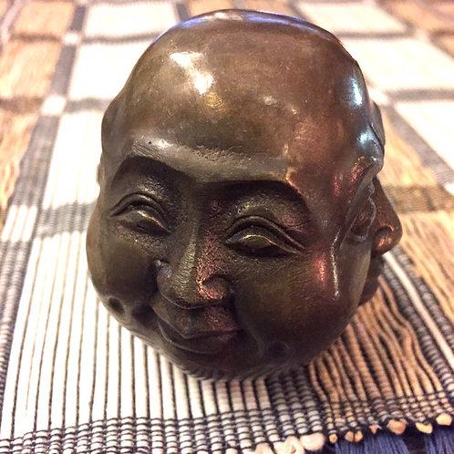 Buddhist Monk 4 Faces Bronze