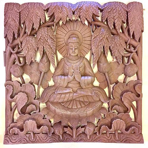 Lotus Buddha Panel