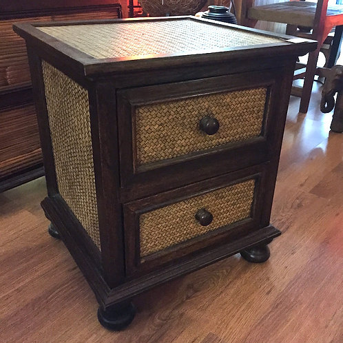 Bamboo Cube Bedside