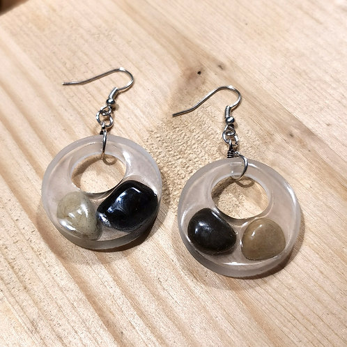 Resin Stone Earrings