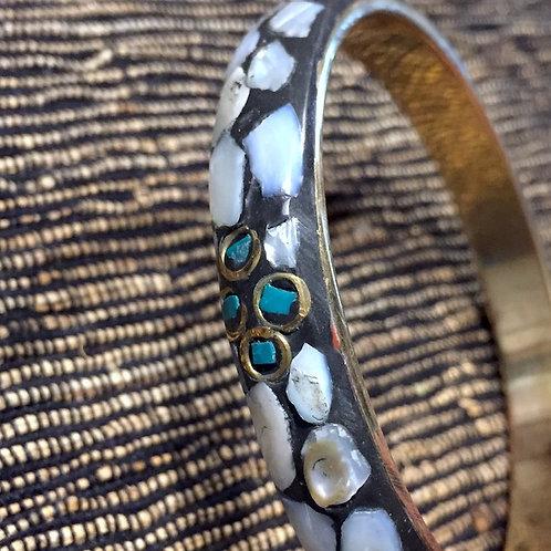 Brass Shell Bangle