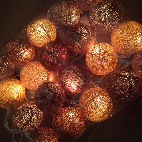 Cotton Ball Deco Lamp