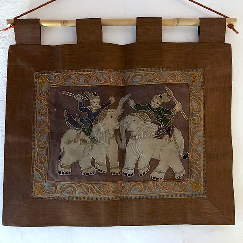 Elephant Battle Tapestry