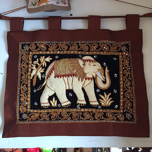 Pearl Elephant Tapestry