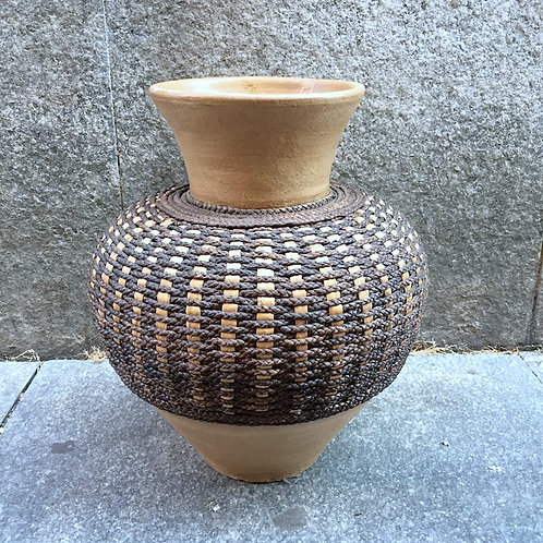 Terracotta Rope Vase