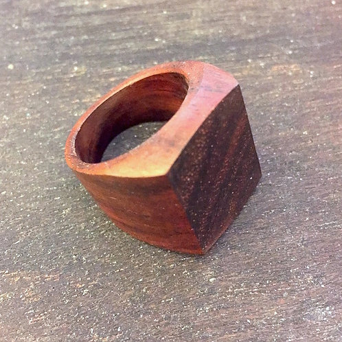 Rectangle Wooden Ring