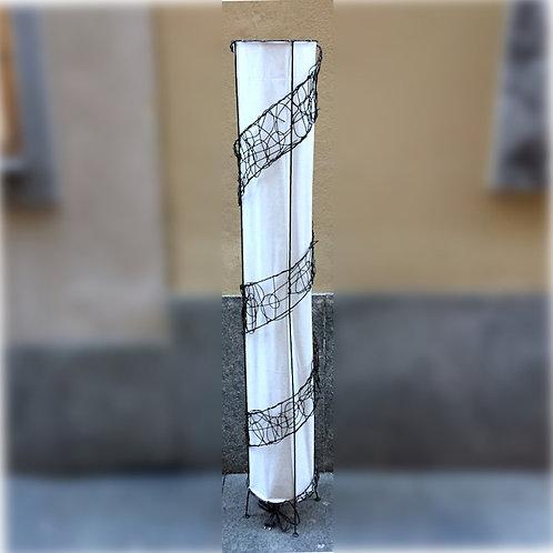 Spiral Bamboo Floor Lamp