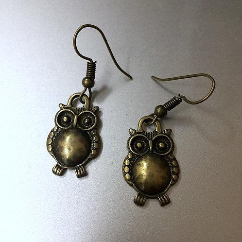 Owl Brass Earrings