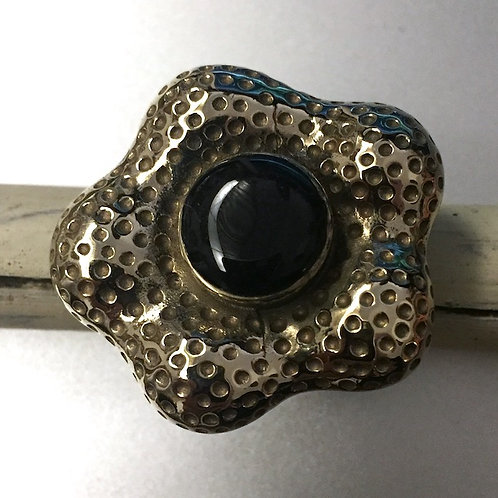 Onyx Brass Ring