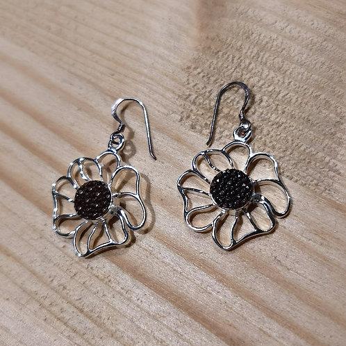 Steel and Shell Earrings
