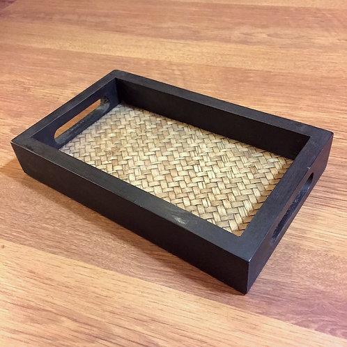 Handle Bamboo Tray