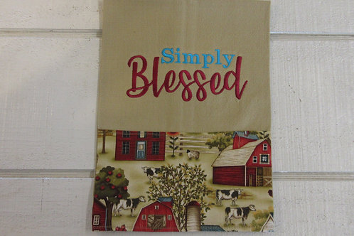 Embroidered Simply Blessed