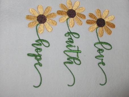 Hope,Faith,Love says MY sunflowers! whats your say?