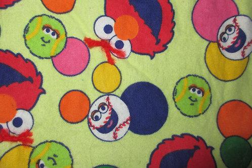 Homemade Elmo flannel baby blanket