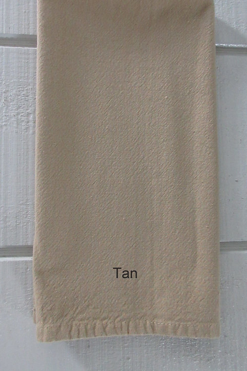 Tan Blank 100% Cotton Tea Towel