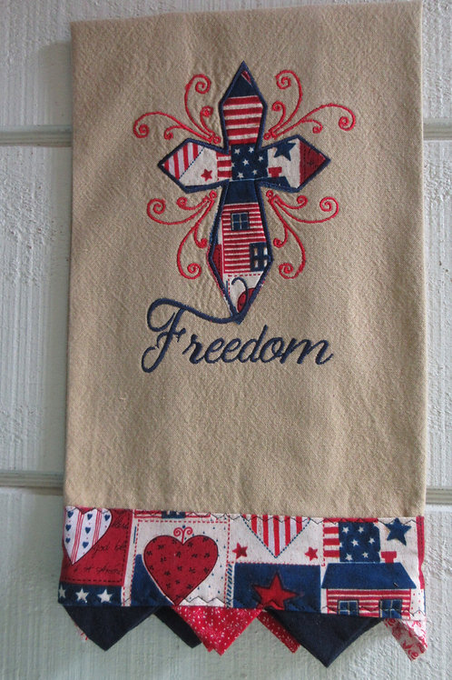 Embroidered Hand Made Kitchen Towel