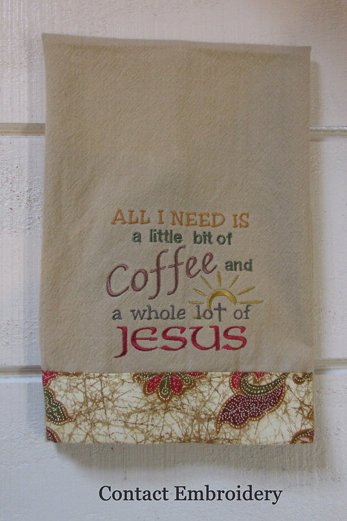 Coffee and Jesus in Red with TRIM