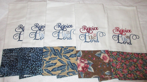 Decorated Embroider Kitchen Tea towels