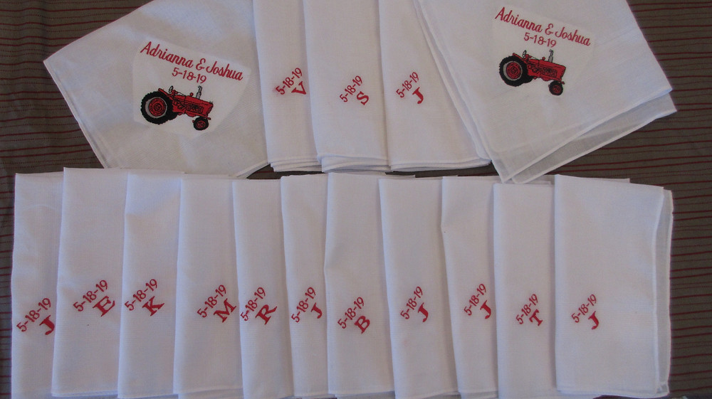personal Embroidery  handkerchiefs