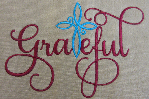Embroidered Grateful