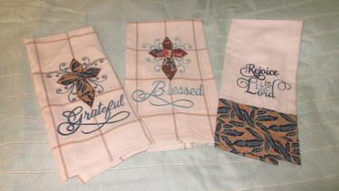 Tea Towels Blessed or Grateful