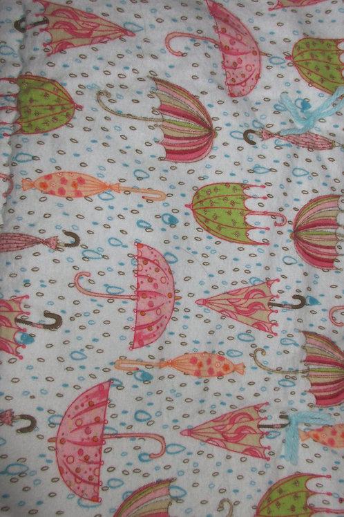 Handmade Unbrella baby quilt