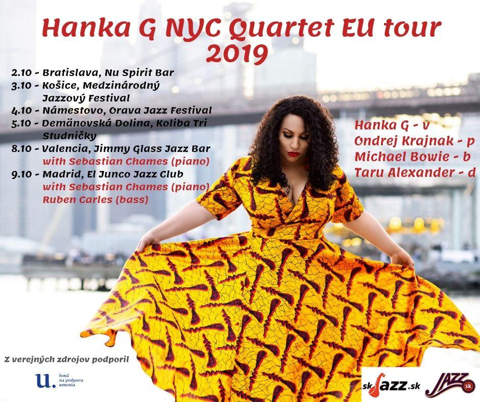 Hanka G NYC Quartet tour komplet variant