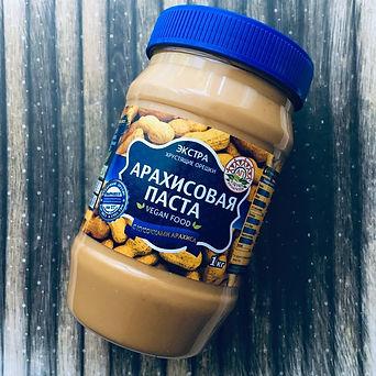 """Арахисовая паста """"Азбука Продуктов"""" Экстра  с кусочками арахиса1 кг"""