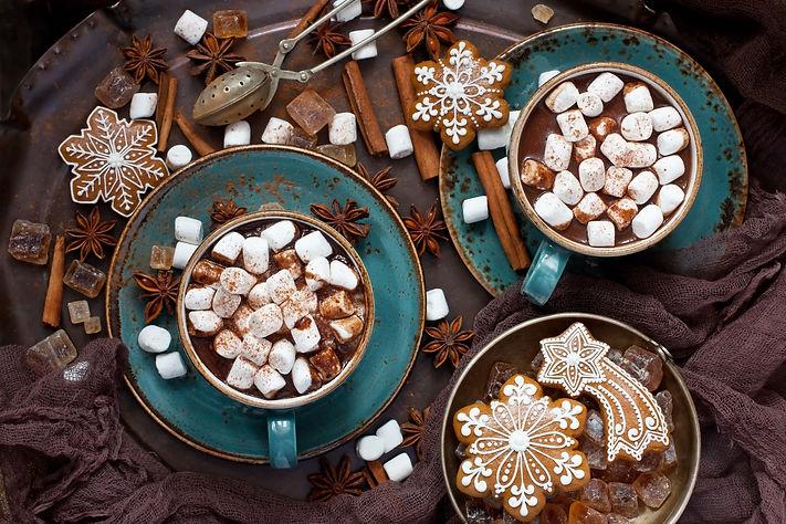 кофе с маршмеллоу, какао с маршмеллоу, красивая фотография кофе, какао
