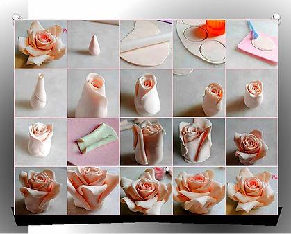 как сделать цветы из мастики пошаговая инструкция
