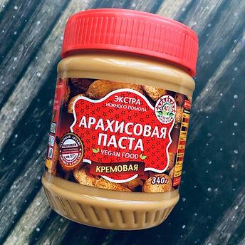 """Арахисовая паста """"Азбука Продуктов"""" Экстра кремовая340 г"""