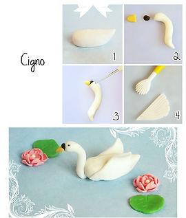 фигурки из мастики, как сделать фигурки из мастики, лебедь из мастики