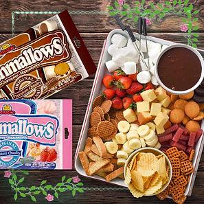 макать маршмеллоу в шоколад, сладкий стол на праздник
