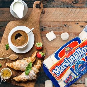 десерт маршмеллоу к кофе, завтрак с маршмеллоу