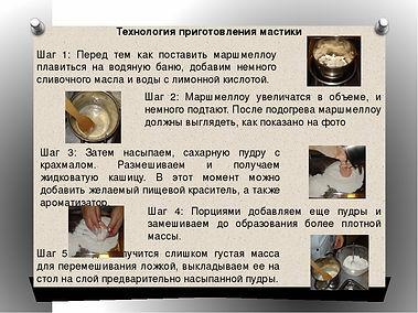 рецепт мастики из маршмеллоу. рецепт с фото. технология приготовления мастики, как обтянуть мастикой торт