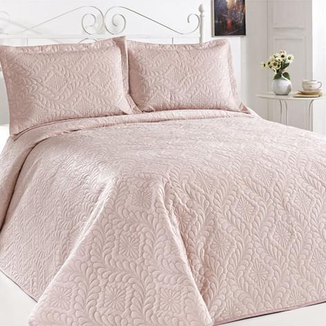 Velour Bedspread Set Pudra