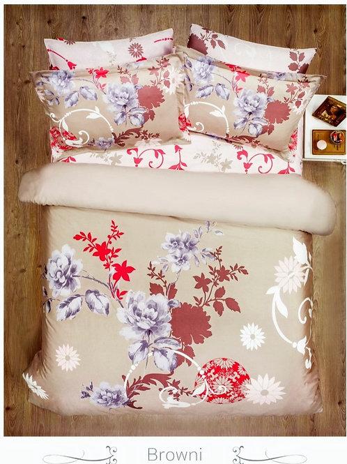 Cпален  комплект памучен сатен/Le Vele Spring series BROWNI
