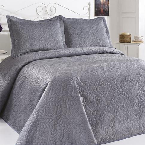Velour Bedspread Set Indigo