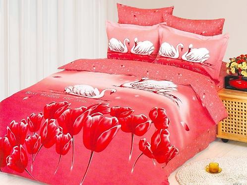 Спален комплект памучен сатен KUGU