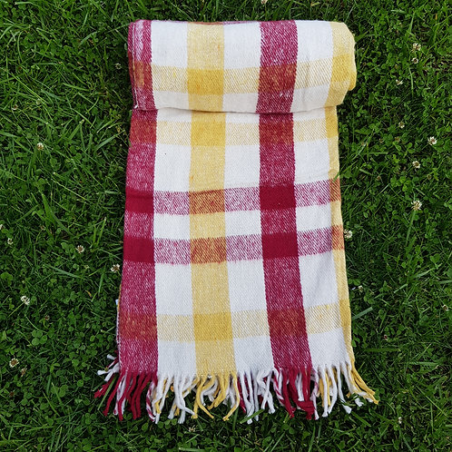 Red and Yellow Cotton Blanket